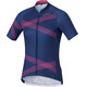 Shimano Team Fietsshirt korte mouwen Dames roze/blauw